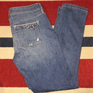 White House Black Market Distressed Jeans Sz4